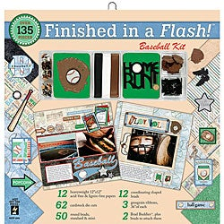 Finished in a Flash 12x12-inch Baseball Page Kit