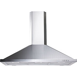 Contemporary Metropole Stainless Steel Wall Mount Range Hood