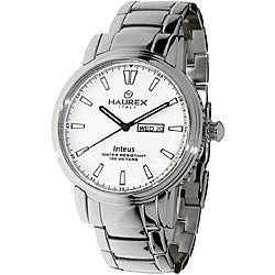 Haurex Italy Inteus Men's Silver Dial Steel Watch Model # 2A276UW1