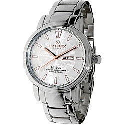 Haurex Italy Inteus Men's Silver Dial Steel Watch