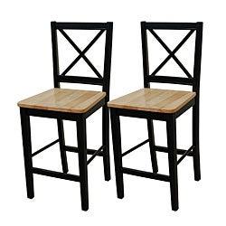Virginia 24-inch Cross-back Stools (Set of 2)