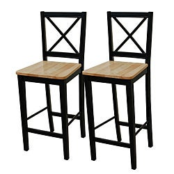 Virginia 30-inch Cross-back Stools (Set of 2)