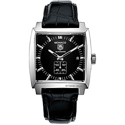 Tag Heuer Men's WW2110.FC6177 Monaco Black Dial Automatic Watch