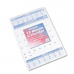 At-A-Glance 3 Months/Page Ruled Daily Blocks Wall Calendar