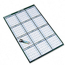 At-A-Glance Reversible and Erasable Yearly Wall Planner