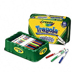 Trayola Washable Markers in Tray (48 per Box)
