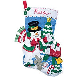 'Delivering The Mail' Felt Applique Stocking Kit