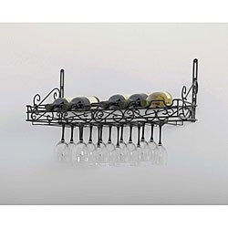 Metal Wine Wall Rack