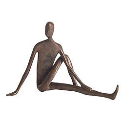 Yoga Twist Cast Bronze Sculpture