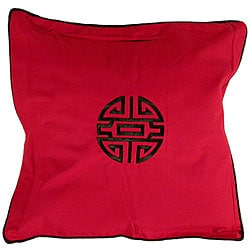 Chinese Symbol Of Life Red Cushion Cover