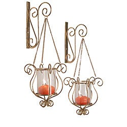 Hanging Gold Sconce (Set of 2)
