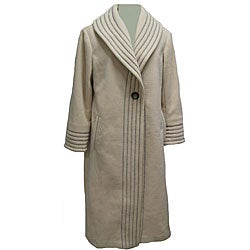 Komitor Plus Size Long Fleece Coat