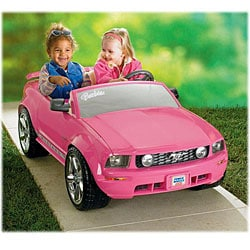 Power wheels power wheels barbie ford mustang pink html for Motorized barbie convertible car