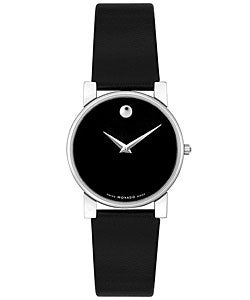 Movado Museum Women's Black Strap Watch