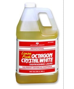 Octagon Crystal White(r) Dishwashing Liquid - 1 gl. Each (case p