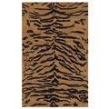 Hand-tufted Lion Wool Rug (5' x 8')