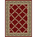 Red Vine Polypropylene Rug (7'10 x 10'10)