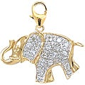 14k Gold 1/10ct Diamond Elephant Charm