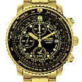 Seiko Aviation Men's Goldtone Chronograph Watch