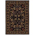 Hand-tufted Omnamo Black Wool Rug (8'9 x 13')