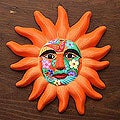 Ceramic &#39;Orange Sun&#39; Mask (Mexico)