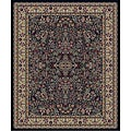 Traditional Black Sarouk Rug (2'7 x 4'1 Oval)