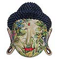 'Delighted Buddha' Decorative Wood Mask (Indonesia)