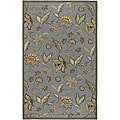 Hand-hooked Tropic Collection Indoor/Outdoor Floral Rug (5' x 8')