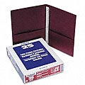 Burgundy Twin-Pocket Portfolios with Three-Tang Fasteners (Case of 25)