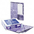 Marble Design Laminated Two-Pocket Purple Portfolios (25 per Box)
