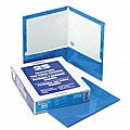 Laminated 100-Sheet Blue Two-Pocket Portfolios (25 per Box)