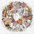 Seashell Wreath Counted Cross Stitch Kit