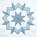 Stamped White Kaleidoscope Quilt Blocks (Set of 6)