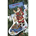 &#39;Checking His List&#39; Counted Cross Stitch Stocking Kit