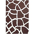 Hand-tufted Giraffe Wool Rug (8&#39; x 10&#39;6)