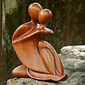 Wood 'The Embrace' Sculpture (Indonesia)