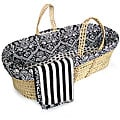 Tadpoles Black and White Damask Moses Basket Set