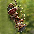 Set of 6 'Andean Whistles' Ceramic Ornaments (Peru)
