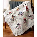 Songbirds Multicolor Floral Cotton/Polyester Lap Quilt Stamped Kit