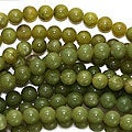 Beadaholique Olive 'Jade' 6 mm Serpentine Gem Round Beads