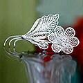 Sterling Silver 'Silver Allamanda' Brooch (Indonesia)