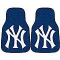 Fanmats MLB New York Yankees 2-piece Logo Car Mat Set