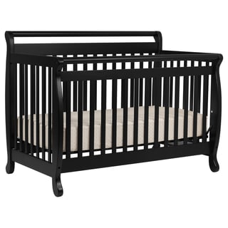 DaVinci Emily 4-in-1 Convertible Crib with Toddler Rail in Ebony
