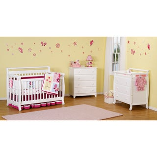 DaVinci Emily 4-in-1 Convertible Crib with Toddler Rail in White