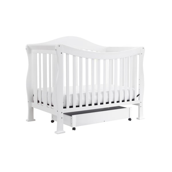 DaVinci Parker 4-in-1 Crib with Toddler Rail in Pure White