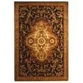 Safavieh Handmade Classic Royal Black/ Beige Wool Rug (6' x 9')