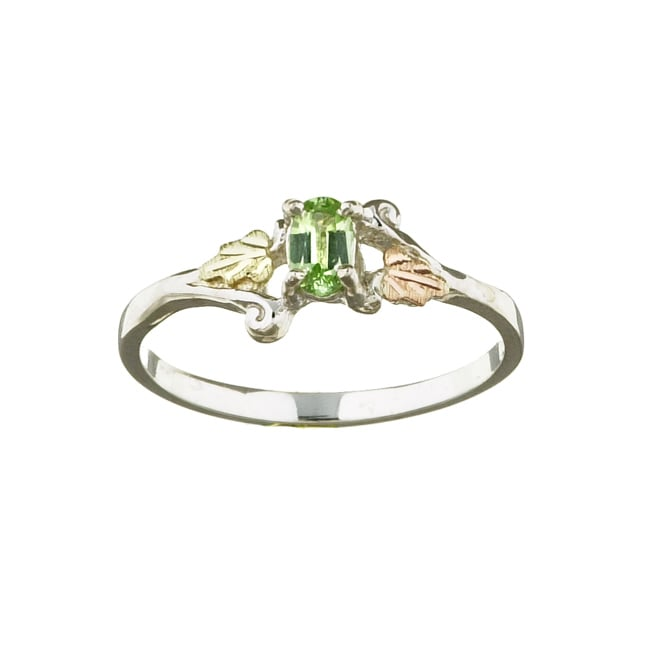 Black Hills Gold and Silver August Birthstone Ring