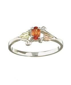 Black Hills Gold and Silver November Birthstone Ring