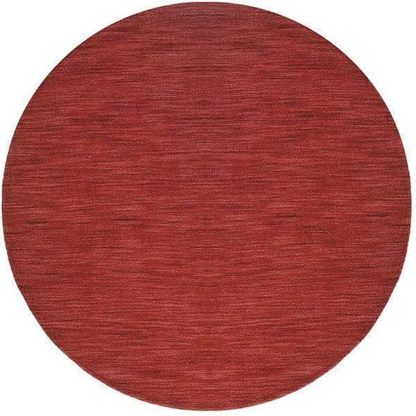 Handmade Elite Contemporary Wool Rug (6' Round)
