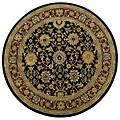 Handmade Elite Floral Wool Rug (6' Round)
